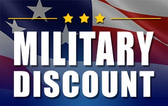 We offer a Military Discount